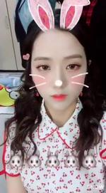 Jisoo as a bunny 3