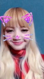 Lisa as a cat on snow
