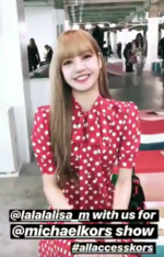 Elletaiwan IG Story Update of Lisa 180912