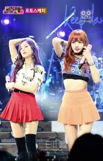 Lisa and Jisoo at JYP Party People 3