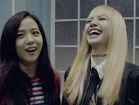 Jisoo and Lisa laughing