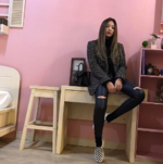 Jennie in her dorm 2