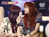 Lisa and Jisoo at JYP Party People