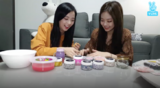 Jisoo and Jennie V Live 171020