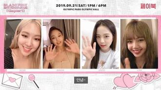 BLACKPINK - 2019 PRIVATE STAGE Chapter 1 MESSAGE VIDEO