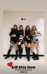 Rosé IG Story Update with the members 190408