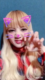 Lisa as a Cat on Snow 2