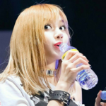 Lisa drinking water