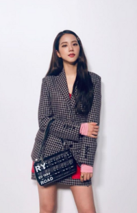 Jisoo at Burberry Show London Fashion Week September 2019
