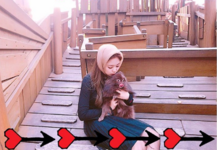 Jennie and Kuma at the park 2