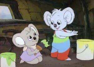 Blinky Bill the Teacher paints friends