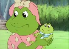 Blinky Bill and baby show Mrs Spotty and Grudolf