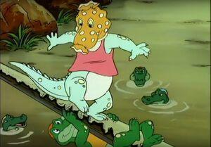 Blinky Bill and Crocodille Crock contest tickling