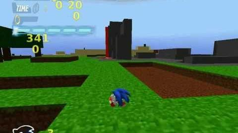 Sonic in minecraft-blitz sonic colours