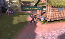Screenshot of taunting Soldier