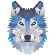 Wall-stickers-wolf-head-origami