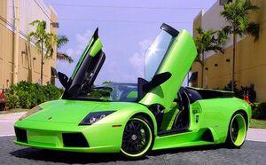 Lamborghini-murcielago-green-tuning