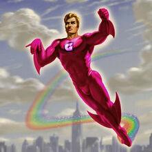 Pink Crusader Superhero