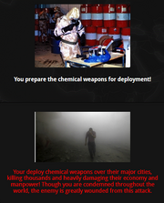 Launch chemical weapons Attack! action 1