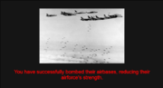 Target enemy airbases action 1