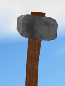 Stone Hammer Held