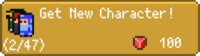 Get New Character Button