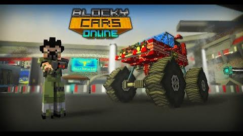 Freddy Blocker's Review Rally map in Blocky Cars