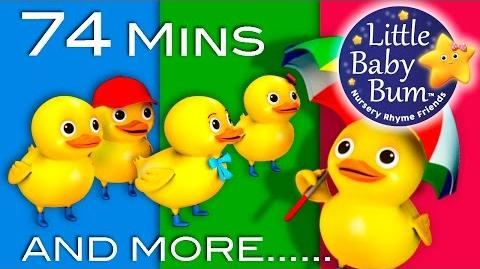 Five Little Ducks Plus Lots More Children's Songs 74 Minutes Compilation from LittleBabyBum!