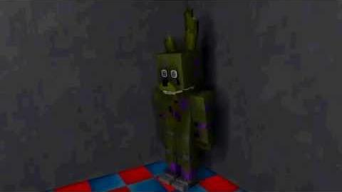The death of Purple Guy. The birth of Spring Trap. Mine-imator-1430930550