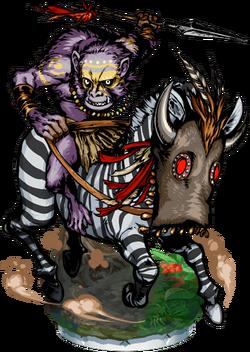 Zebra Rider II Figure