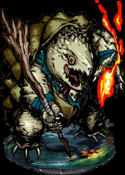 Lizardman Warlock Figure