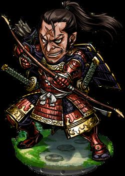 Red Samurai Figure