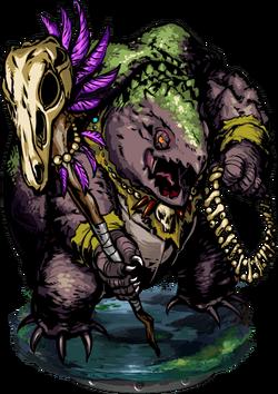 Lizardman Warlock III Figure