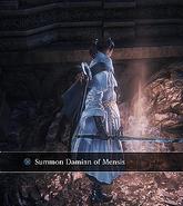 Damian Of Mensis Summoning sign