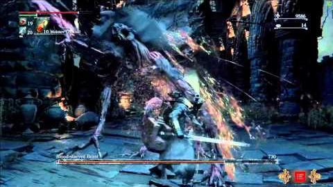 Bloodborne Boss Battle - Blood Starved Beast