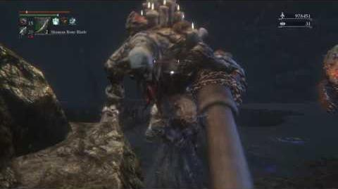 Bloodborne- Roaming Watchdog of the Old Lords vs. Undead Giant (Cannon)