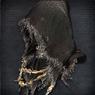 Железный шлем с черным капюшоном - табл