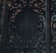 Communion on Church Door Bloodborne