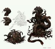 Snake Ball Bloodborne Concept Art
