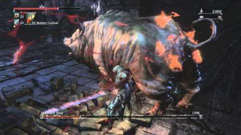 Bloodborne Man-eater Boar Optional Boss Fight 4