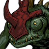 Lizardman Mountsman Face