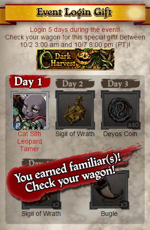 Dark Harvest Event Login
