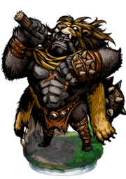 The Black Brute Figure