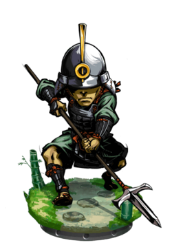 Ashigaru Commander Figure