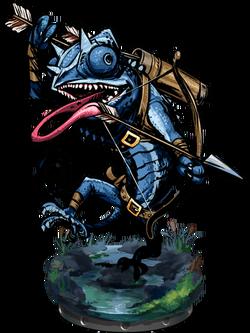 Lizardman Hunter II Figure