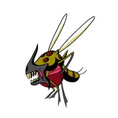 Flying parasite artwork