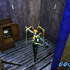 Various screenshots of the early Nocturne 2 game before changing into Bloodrayne