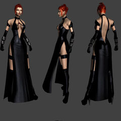 Rayne in a dress in <i>BloodRayne 2</i>