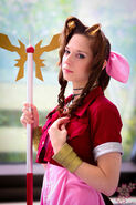 Aerith gainsborough ffvii matsuricon 2013 by artemismooncosplay-d6ldya7