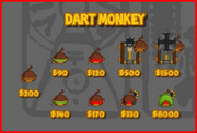 Dart Monkey Tech Tree
